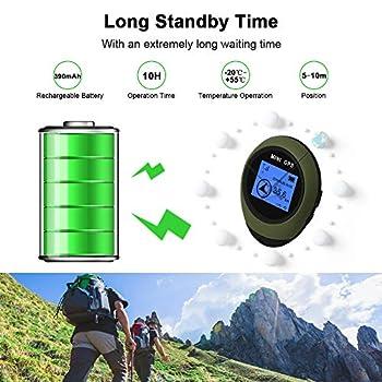 Extérieur Mini Handheld Unité GPS, Navigation avec Multi Finder Emplacement Destenations, Affichage Dot Matrix pour Le Vélo Randonnée Exploration Sauvage,Vert