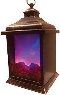 Elegant 2 Color LED Flame Effect Lantern Decor Timer Indoor/Outdoor Battery Operated