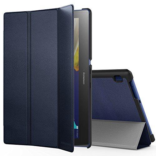 TiMOVO Lenovo Tab 2 A10 / Tab 3 10 Hülle, Dünn Schutzhülle mit Auto Schlaf/Wach Standfunktion für Lenovo Tab 2 A10-70 / Tab 2 A10-30 (TB2-X30F) / Tab 3 10 Business, Marineblau