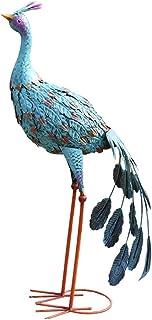 تماثيل الحديقة الخارجية التماثيل الزرقاء حديد طاووس حديقة الديكور الحديد الطيور المائية حديقة حديقة الديكور فيلا حديقة شرف...