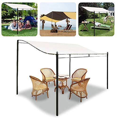 Fuguzhu - Gazebo per barbecue in tela 420D, impermeabile, copertura superiore per tetto da esterni, cortile (non incluso supporto in acciaio) (3 x 2,6 m)