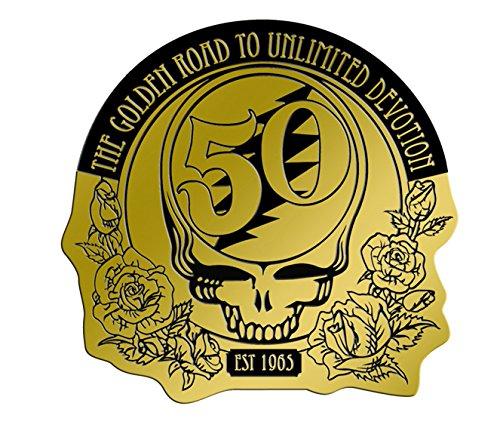 C&D Visionary Grateful Dead 50th Anniversary Gold 2.125' Metal Sticker