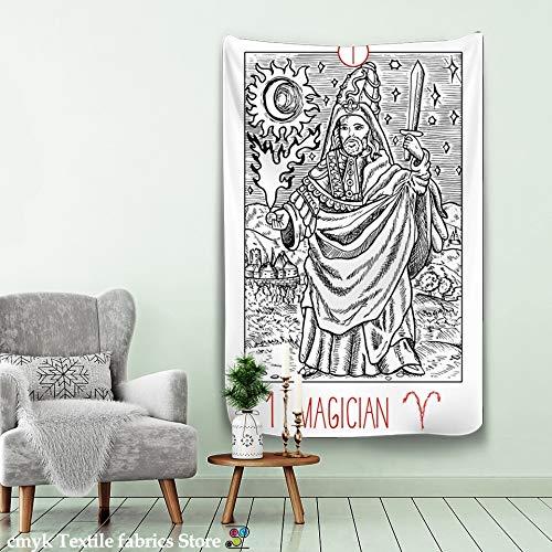 N / A Tarot Tapiz Colgante de Pared astrología adivinación Colcha Estera de Playa decoración del hogar Tapiz Tela de Fondo A3 150x150cm