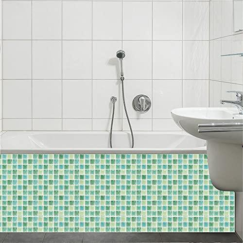HQL 10st Peel and Stick Wallpaper Green, 3,94'x 3.94' Pegatinas de Azulejos, Decoración de la Pared casera 3D, Pegatina Decorativa autoadhesiva, para la Cocina de baño encimera