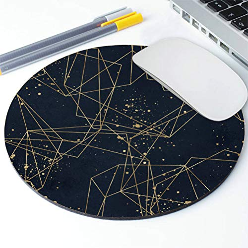 Amcove Polygonal Geometric Shapes Mousepad, Personalized Mouse Pad, Round Mouse pad Desk Accessories, Desk Decorations Photo #4