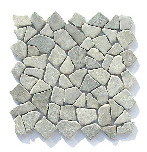 M-1-010 - 1 m² = 11 Fliesen - Naturstein Marmor Bruchstein Mosaik Mosaikfliesen