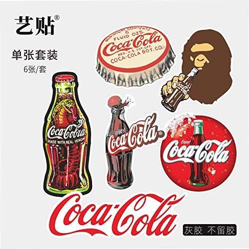 Retro Cola Set Koffer Notebook Koelkast Trend Sticker Waterdichte Persoonlijkheid Creatief 6