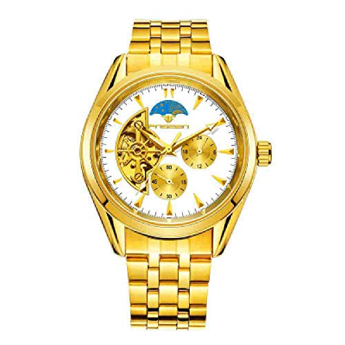DECTN Reloj de Pulsera Winner Watch Men Skeleton Reloj mecá