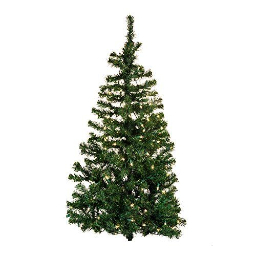 Kurt Adler Pre-Lit Norway Pine Wall Tree, 48-Inch
