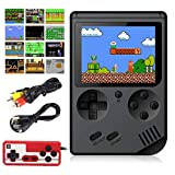 Aisallin Retro FC Handheld Game Console with 400 Classic Games for Kids Adult, 3 Inch HD Screen FC Video Game Console with Much Childhood Fun Support TV Output 2 Players USB Rechargeable (Black)
