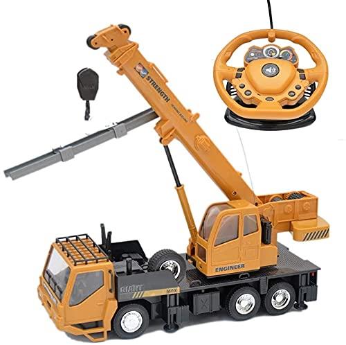 YANDFXSOP Remote Control Profesional Crane Control Remoto Inalámbrico Camión Crane Electric Crane Giratable Cargador Bulldozer Excavador Regalos Niños Niños Adulto Juguete (Color : 1 Battery)