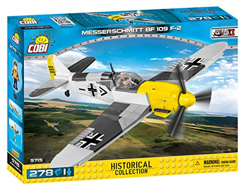 COBI Maqueta Avion Messerschmitt BF109 F2. Historical Collection. WWII (Cobi-5715)