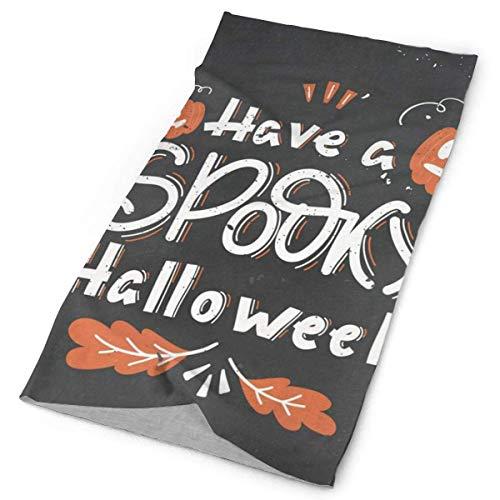 NA Visage Headwear Bandana, Ont Bandana Spooky Halloween citrouilles Feuilles de chêne, Style 12-en 1 Bandana pour Unisexe, 25X50Cm