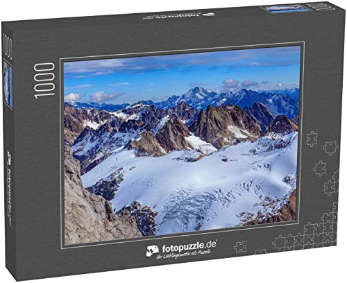 Puzzle 1000 Teile Blick vom Titlis in den Schweizer Alpen im Winter - Klassische Puzzle, 1000/200/2000 Teile, in edler Motiv-Schachtel, Fotopuzzle-Kollektion 'Schweiz'