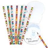 Matite Amici Natalizi per Bambini, Giochi e Giocattoli per Bambini Piccoli per Un Natale Perfetto (Confezione da 8)