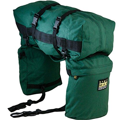 Trailmax Junior - Set de alforjas con bolsa para borrén trasero - Equipaje para silla vaquera de cowboy - Verde