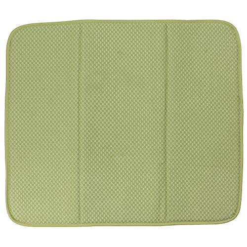 macosa SP1161Moderna Escurreplatos Microfibra selbsttrocknend  para Vasos y vajilla   Vajilla de alfombras, Estante Fregadero escurridor, Microfibra, Verde Claro, 41 x 46 x 0,5 cm