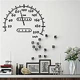 Velocímetro de coche pegatina de pared velocímetro coche todoterreno motocicleta vinilo pegatina de pared sala de juegos decoración del hogar A6 43x54cm