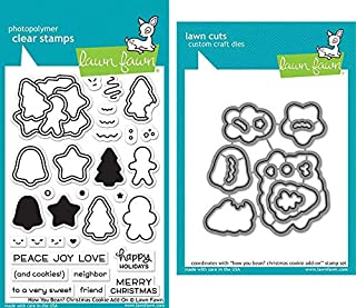 Lawn Fawn How You Bean? Christmas Cookie Add-On Stamp & Die Set - Two Item Bundle