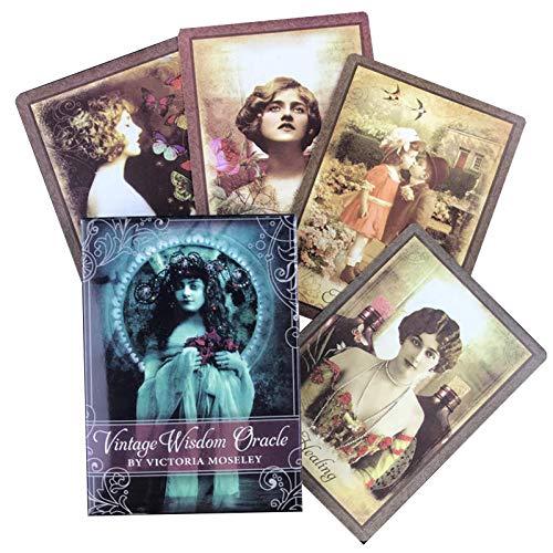 GWQDJ Vintage Weisheit Orakel, Tarotkarten Brettspiel Weibliche Fate Fate Für Frauen Party Familie Spielen Spiele