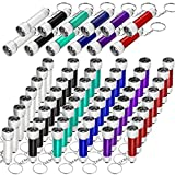 60 Pieces Mini Flashlight Keychains 5 Bulb LED Flashlight Keychains Portable Key Ring Light Torches Assorted Colors Bright Keychain Flashlights for Camping Party Favors