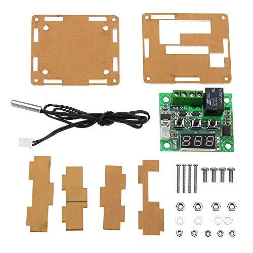 hgbygvuy 5pcs XH-W1209 DC 12V Controlador de Control de Temperatura del termostato Controlador de termómetro con Pantalla LED Digital con Caja S