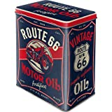 Nostalgic-Art 30150 - US Highways - Route 66 Motor Oil, Vorratsdose L