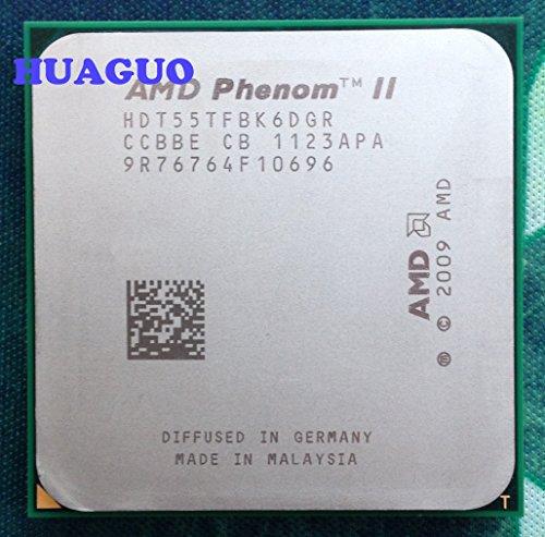 AMD Phenom II X6 1055T - Procesador de CPU de seis núcleos (2,8 GHz, HDT55TFBK6DGR, zócalo AM3, 125 W)