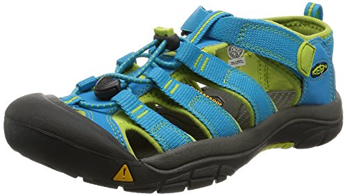 Keen Unisex-Kinder Newport H2 Trekking-& Wandersandalen,Türkis (Hawaiian Blue/Green Glow),29 EU