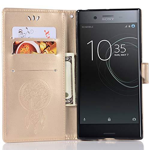Capa de couro premium para Sony Xperia XZ, capa carteira premium para Sony Xperia XZ, capa flip floral em couro PU com suporte para cartão de crédito para Sony Xperia XZ Premium de 5,46 polegadas