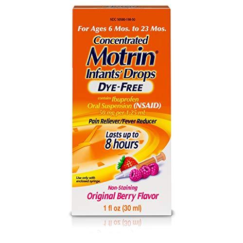 Infants' Motrin Concentrated Liquid Medicine Drops with Ibuprofen, Berry, 1 fl. oz