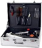 Caja de Herramientas de barbero profesional portátil de aluminio, Maleta de peluquería, Maleta de almacenamiento de...