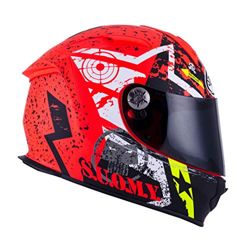 Suomy Motorradhelm SR Sport Shape, Schwarz/AZZUR, 2XL