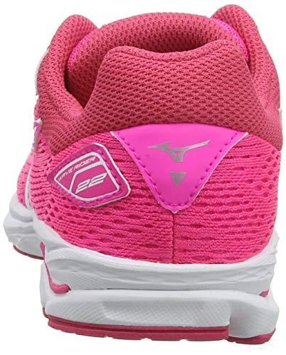 Mizuno Unisex Kid's Wave Rider 22 Jr Running Shoes, Pink (Pink Glo/Port Royale/Charlock 07), 5 UK