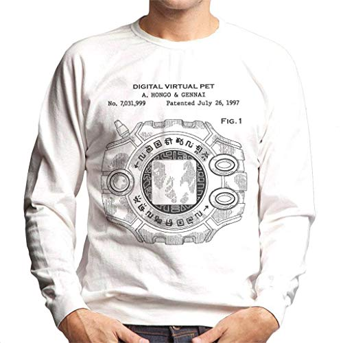 Cloud City 7 Digimon Digital Virtual Pet Patent Men's Sweatshirt