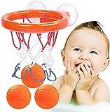 Wasserspielzeug Badespielzeug Baby, Mini basketballkorb Ostergeschenke Bällebadewannen Basketballkorb Badewannenspielzeug Ball Badespielzeug Kinder mit 3 Basketbälle+Saugnäpfen+Basketball Brett