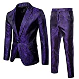 abito da uomo slim 2 pezzi blazer business wedding party giacca cappotto & pantaloni da uomo festa formale giacca b xxl