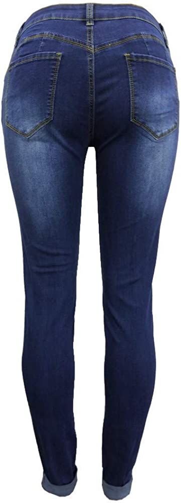VEKDONE Women Hight Waisted Ripped Jeans Butt Lift Stretch Ripped Skinny Jeans Distressed Denim Pants