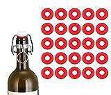 Grolsch-Dichtungen aus Silikon, für Kronkorken, Bügelverschluss, für selbstgebraute Bierflaschen,...