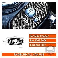 Rumors Mini Cooper S One Hatch R50 R53 2005 2006カーボンファイバーステッカー電気ミラー制御キーパネルインテリアカーアクセサリー (Color Name : Black)