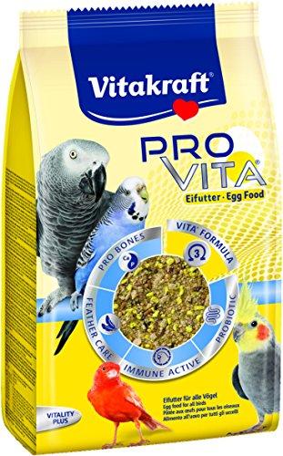 Vitakraft Stärkungs- und Aufzuchtfutter für alle Vögel, Getreide/Saaten/Ei/Krebstiere, Zuckerfreie Rezeptur, PRO VITA Eifutter