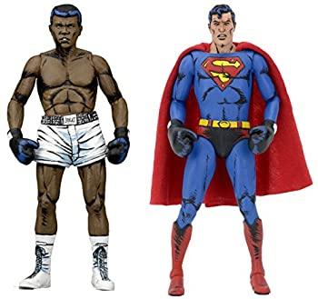 NECA DC Comics Superman vs Muhammad Ali Special Edition Action Figure  2 Pack  7  multi-colored