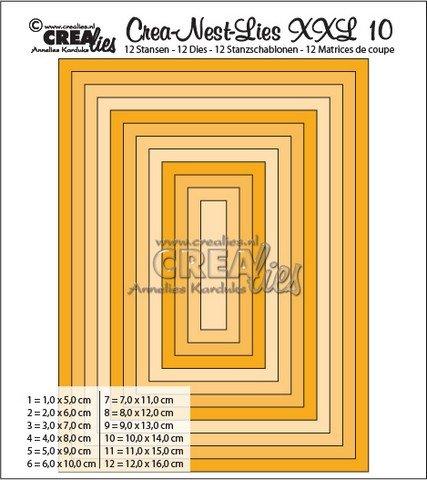 Crealies Crea-nest-dies XXL no. 10 Stanz Rechteck basis CLNest10XXL / 5 cm - 16 cm, 340010