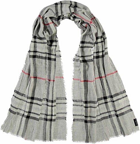 FRAAS elegante Damen-Stola mit Karo-Muster - karierter Schal für Herbst und Winter - warmes Hals-Tuch in verschiedenen Farben - modische Stola kariert Grau