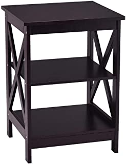 3 Tiers Nightstand Modern End Table Storage Display Shelf Living Room Furniture White New Side Coffee Tables