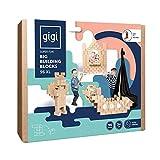 GIGI Bloks Bloques de Construcción Gigantes de Cartón Para Niños, Set de Bloques...