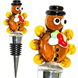 Turkey Thanksgiving Wine Stopper - Decorative, Unique, Eye-Catching Glass Turkey Wine Stoppers – Thanksgiving Wine Bottle Stopper, Wine Accessories, Hostess Gift - Wine Corker/Sealer