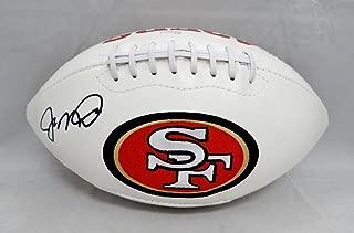 Joe Montana Autographed San Francisco 49ers Logo Football with JSA W Auth Black