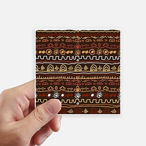 DIYthinker Afrique Primitive Style autochtone Tribal Autocollant carré de 10 cm Mur Valise pour Ordinateur Portable Motobike Decal 8Pcs 10cm x 10cm Multicolor
