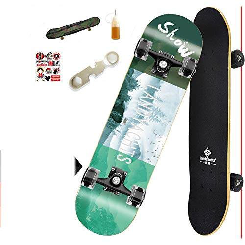 For Sale! 32 Complete Skateboard Retro with Colorful LED Light Up Wheels for Kids Boys Girls Youths ...